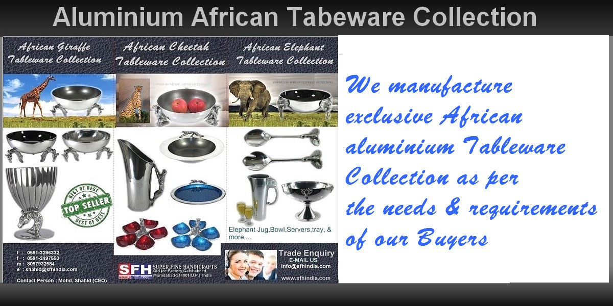 Aluminium African Tableware Collection