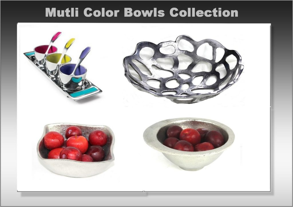 Multi color bowls