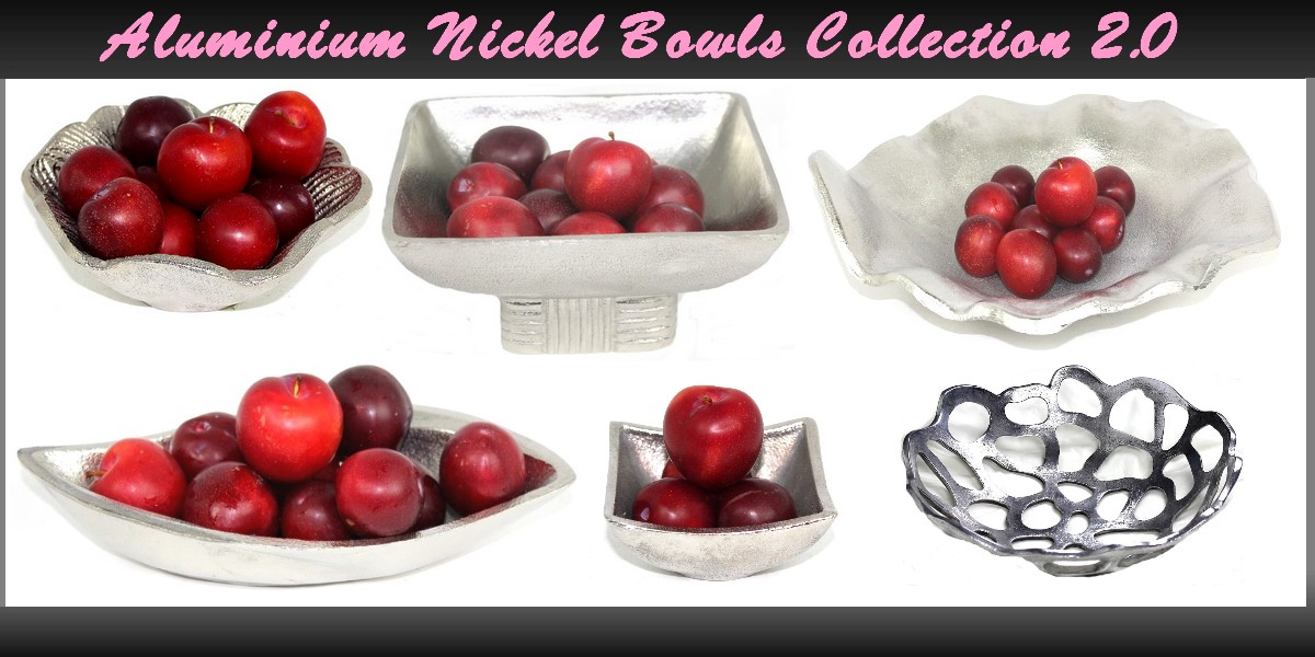 Aluminium Nickel Bowls & Jaali Collection 2.0
