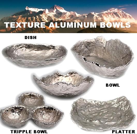 Aluminium Texture Bowl